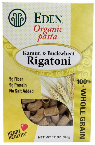 Eden Foods  Organic Pasta Kamut and Buckwheat Rigatoni Perspective: front