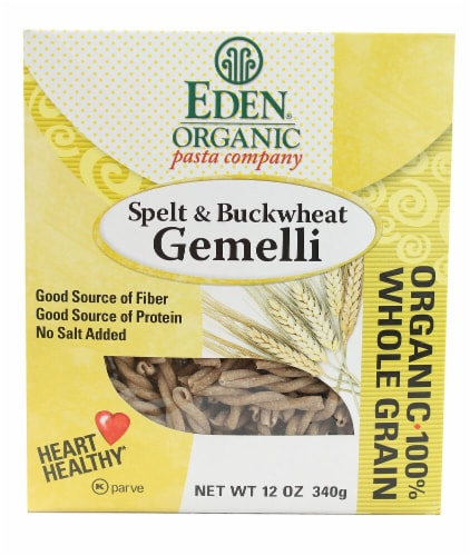 Eden Foods  Organic Pasta Company Spelt & Buckwheat Gemelli Perspective: front