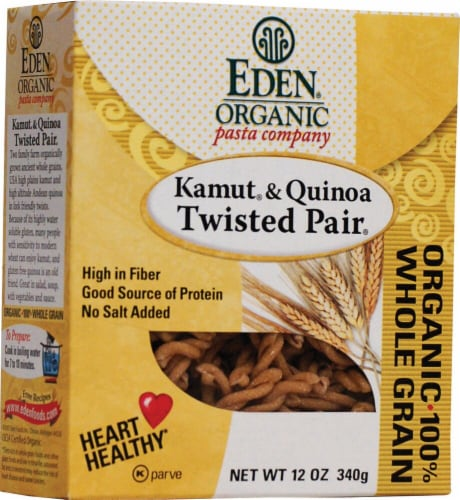 Eden Foods  Organic Pasta Company Kamut and Quinoa Twisted Pair Perspective: front