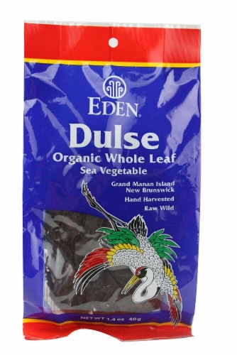 Eden Foods  Dulse Organic Whole Leaf Sea Vegetable Perspective: front