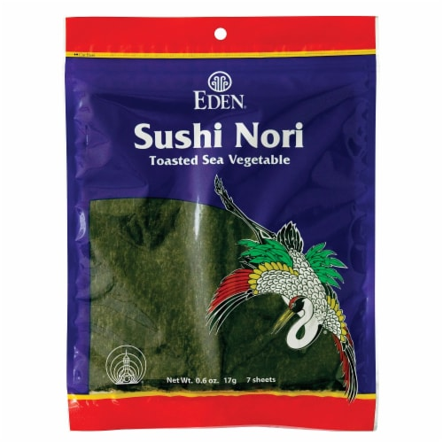 Eden Sushi Nori Toasted Sea Vegetable Perspective: front