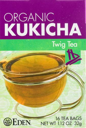 Eden Organic Kukicha Twig Tea Bags Perspective: front