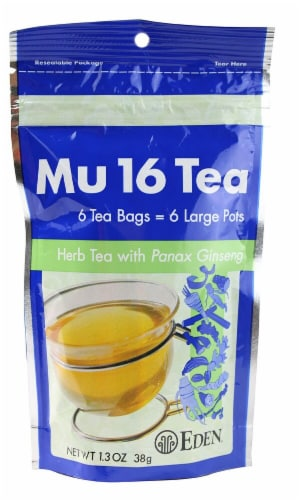 Eden Mu 16 with Panax Ginseng Tea Bags Perspective: front