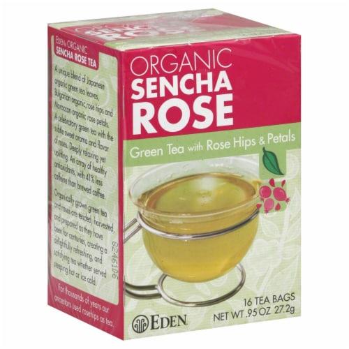 Eden Organic Sencha Rose Green Tea Perspective: front