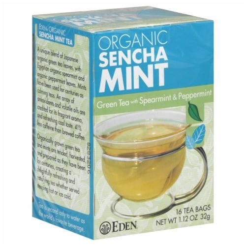 Eden Organic Sencha Mint Green Tea Bags Perspective: front