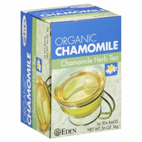 Eden Organic Chamomile Herb Tea Bags Perspective: front