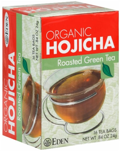 Eden Organic Hojicha Roasted Green Tea Bags Perspective: front