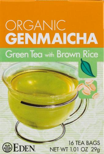Eden Organic Genmaicha Green Tea Bags Perspective: front