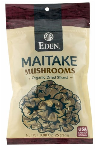 Eden Foods Organic Dried Sliced Maitake Mushrooms Perspective: front