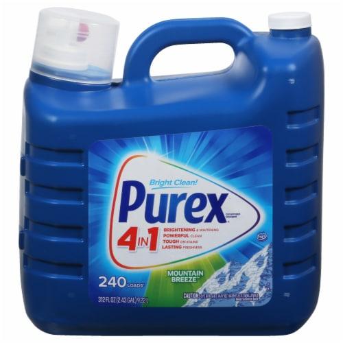 Purex Dirt Lift Action Mountain Breeze Liquid Laundry Detergent Perspective: front