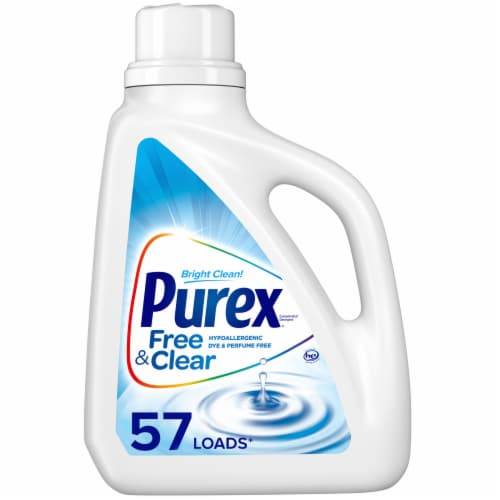 Purex Dirt Lift Action Free & Clear Liquid Laundry Detergent Perspective: front