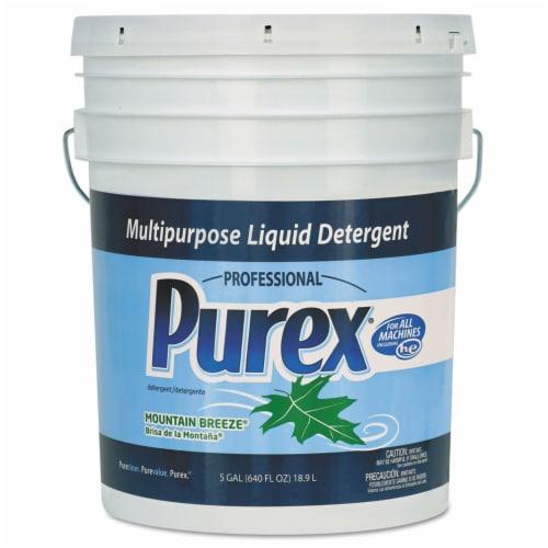 Purex Liquid Laundry Detergent, Mountain Breeze, 5 Gal. Pail 06354 Perspective: front
