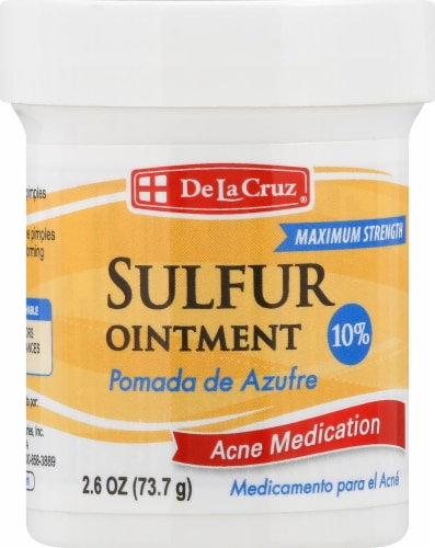 De La Cruz Pomada de Azufre Sulfur Ointment Perspective: front