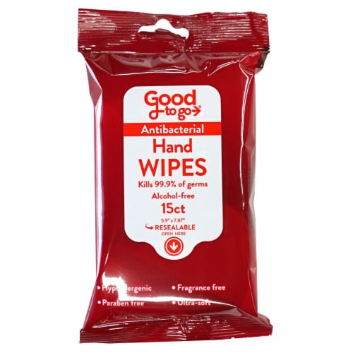 Good To Go Antibacterial Hand Wipes Perspective: front