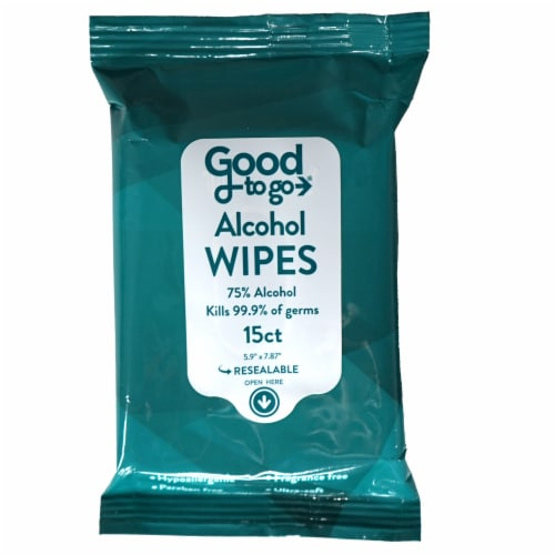 Good To Go Alcohol Wipes Perspective: front