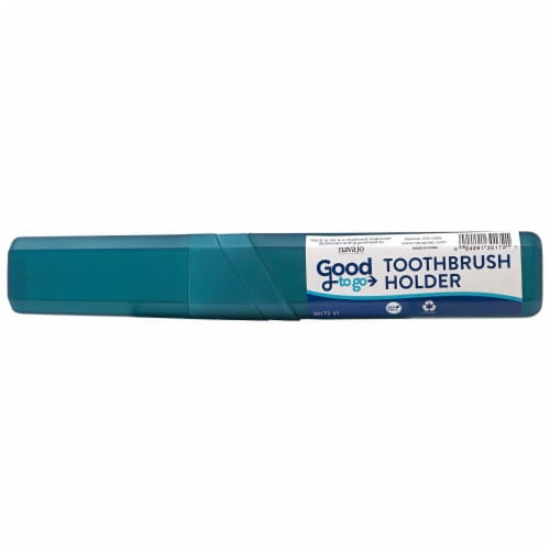 Good To Go Teal Toothbrush Holder Perspective: front