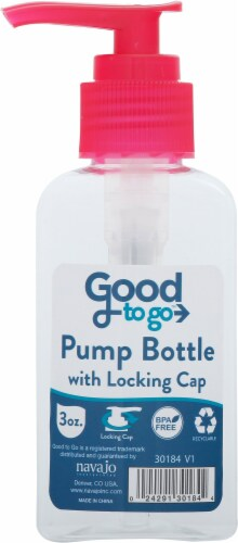 Good To Go Locking Cap Travel Pump Bottle Perspective: front