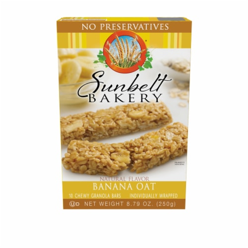 Sunbelt Bakery Natural Banana Oat Chewy Granola Bars Perspective: front