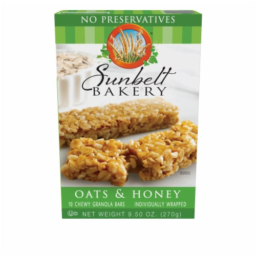 Sunbelt Bakery Oats & Honey Chewy Granola Bars Perspective: front