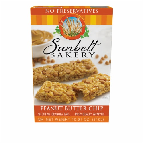Sunbelt Bakery Peanut Butter Chip Chewy Granola Bars Perspective: front