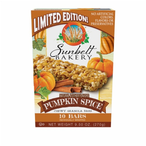 Sunbelt Bakery Pumpkin Spice Chewy Granola Bars Perspective: front