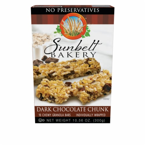 Sunbelt Bakery Dark Chocolate Chunk Chewy Granola Bars Perspective: front