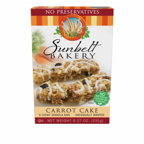 Sunbelt Bakery Carrot Cake Chewy Granola Bars Perspective: front