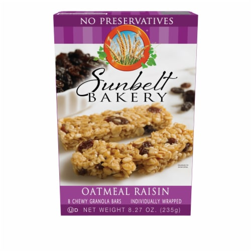 Sunbelt Bakery Oatmeal Raisin Chewy Granola Bars Family Pack Perspective: front