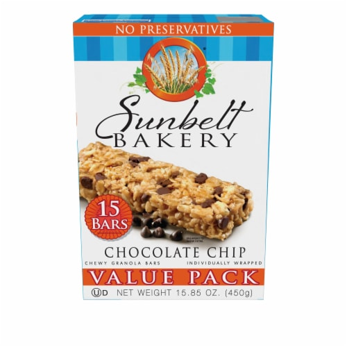 Sunbelt Bakery Chocolate Chip Chewy Granola Bars Value Pack Perspective: front