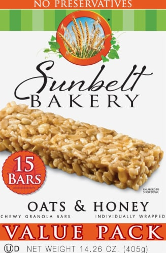 Sunbelt Bakery Oats & Honey Chewy Granola Bars Value Pack Perspective: front