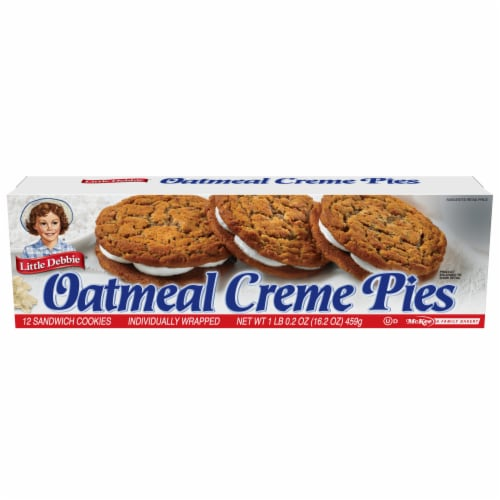 Little Debbie Oatmeal Creme Pies Perspective: front