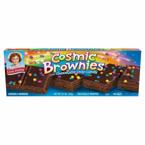 Little Debbie Cosmic Brownies with Chocolate Chip Candy Perspective: front
