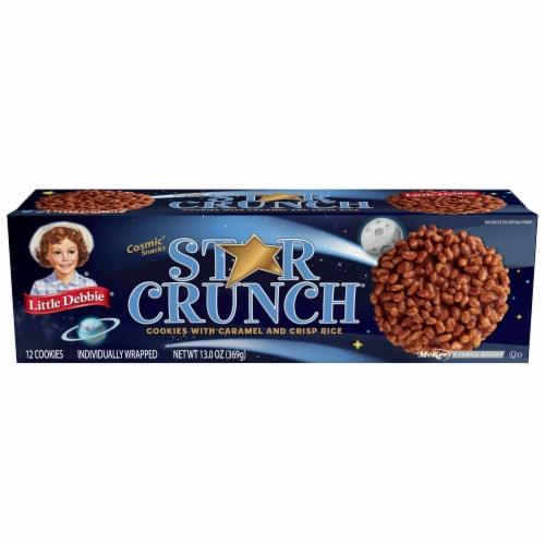 Little Debbie Star Crunch Caramel and Crisp Rice Cookies Perspective: front