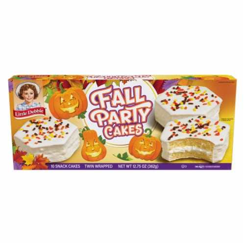 Little Debbie Vanilla Fall Party Cakes Family Pack Perspective: front