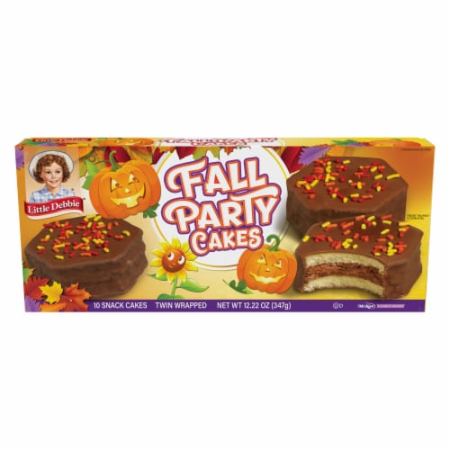Little Debbie Chocolate Fall Party Cakes Family Pack Perspective: front