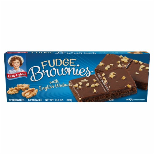 Little Debbie English Walnuts Fudge Brownies Perspective: front