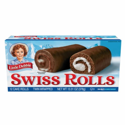Little Debbie Swiss Rolls Snack Cakes Perspective: front
