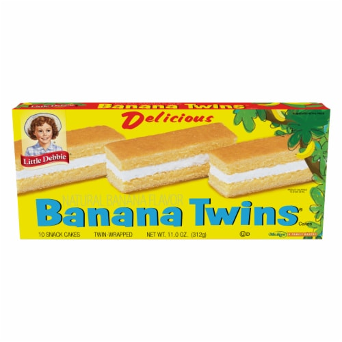 Little Debbie Natural Flavor Banana Twins Snack Cakes Perspective: front