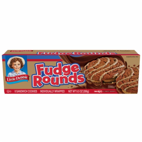 Little Debbie Fudge Rounds Sandwich Cookies Perspective: front