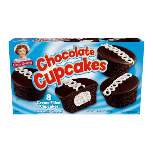 Little Debbie Chocolate Creme Filled Cupcakes Family Pack Perspective: front