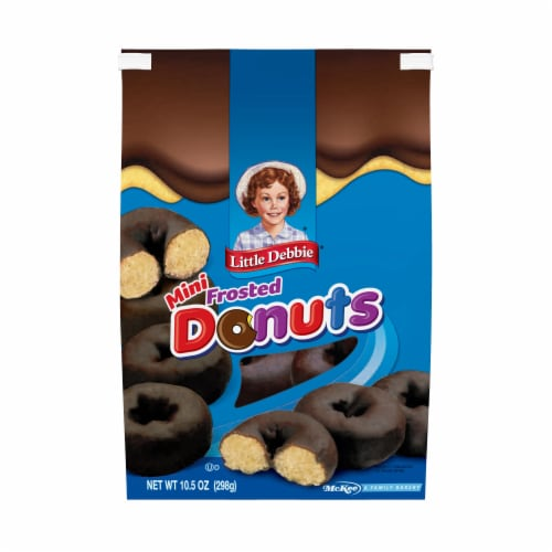 Little Debbie Mini Frosted Donuts Perspective: front