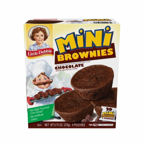 Little Debbie Chocolate Mini Brownies Perspective: front
