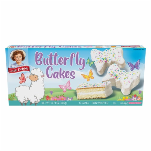 Little Debbie Butterfly Creme Filled Cakes Perspective: front
