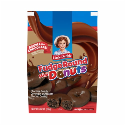 Little Debbie Double Chocolate Mini Donuts Perspective: front