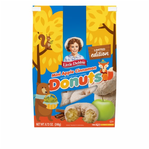 Little Debbie Limited Edition Mini Apple Cinnamon Donuts Perspective: front