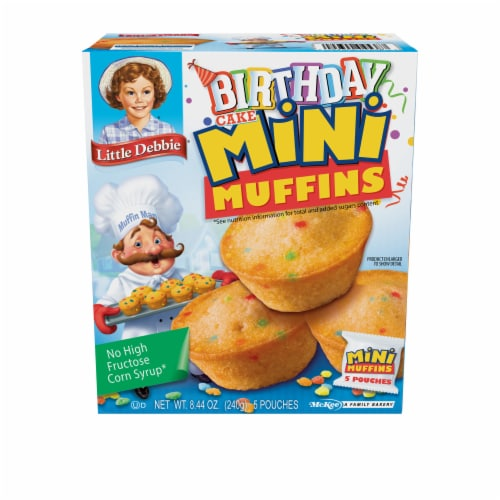 Little Debbie Mini Birthday Cake Muffins Family Pack Perspective: front