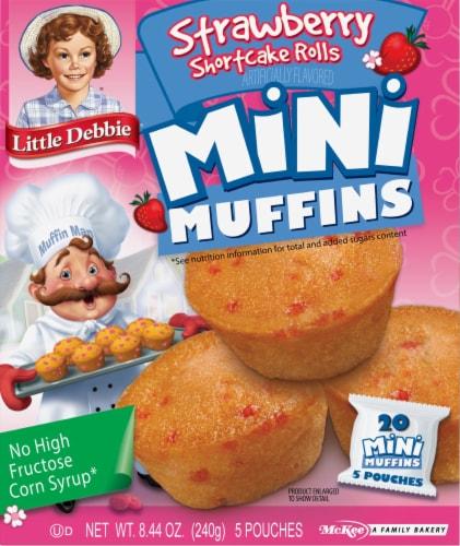Little Debbie Strawberry Shortcake Mini Muffins Perspective: front