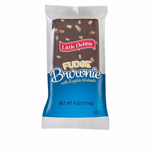 Little Debbie Fudge Brownie with English Walnuts Perspective: front