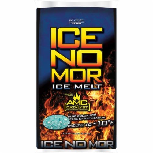 EC Grow Ice No Mor Sodium Chloride, Calcium Chloride and Magnesium Chloride Granule Ice Melt Perspective: front