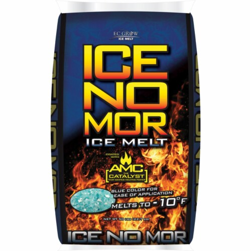 Ice No Mor Calcium Chloride Ice Melt 50 lb. Crystal Perspective: front